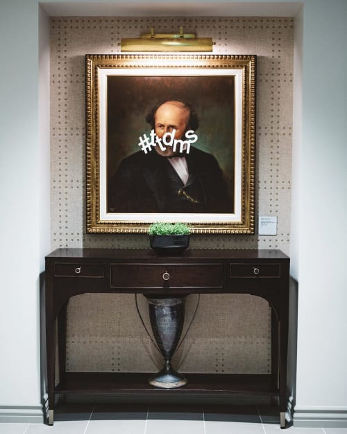 Paintings by Shawn Huckins seen at The Los Angeles Athletic Club, Los Angeles - #ttdms