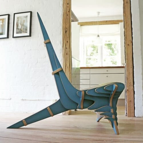 Chairs by Peter Qvist seen at Hornbæk, Hornbæk - Peak Lounge Chair