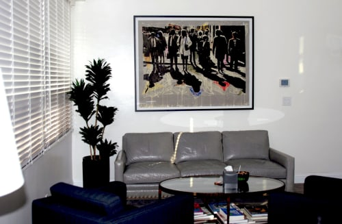 Paintings by Mario M. Muller seen at Private Residence, Los Angeles - On the Curb