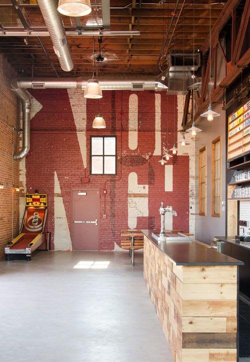Furniture by Bailey Davol / Studio Build seen at Notch Brewery & Tap Room, Salem - Custom Bar