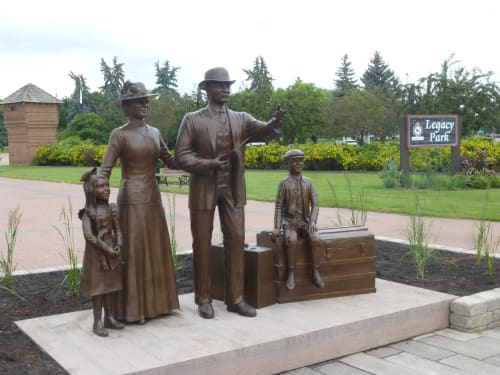 Public Sculptures by Don Begg / Studio West Bronze Foundry & Art Gallery seen at Legacy Park, Fort Saskatchewan - Acres of Dreams