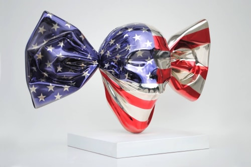 """Sculptures by ASPENCROW seen at Private Residence, Vilnius - """"US Candy"""" original"""