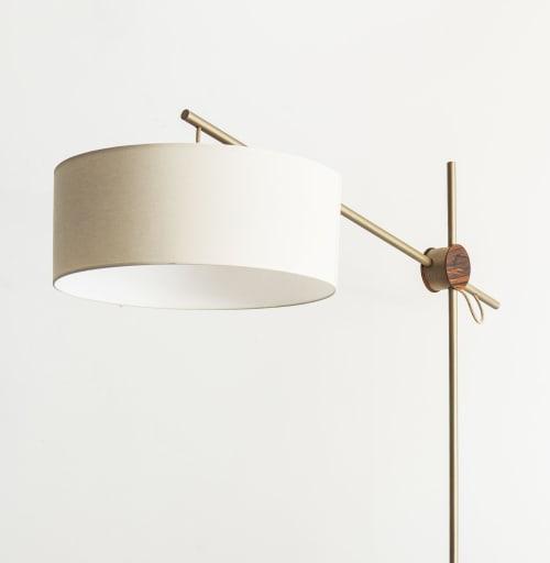 "Lamps by Alessandra Delgado Design seen at Private Residence - São Paulo - SP, Pinheiros - ""Rotula"" Minimalist Style Floor Lamp"