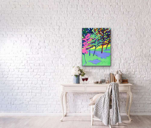 Paintings by Dale Weiss Art seen at Private Residence, Los Angeles - Mid Summer Balboa