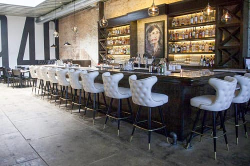 Chairs by Richardson Seating Corporation seen at 940's Kitchen & Cocktails, Denton - Model 2516 Bar Stools