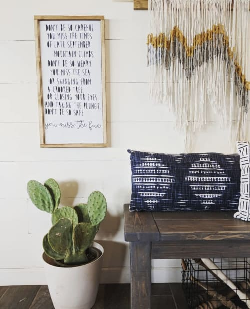 Macrame Wall Hanging by Black Sage Decor seen at Private Residence, New River - Desert Sky