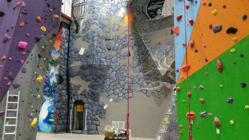 Murals by Thomas Conger seen at On The Rocks Climbing Gym, Elyria - Mural