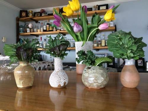 Vases & Vessels by Erika Arbour-Nevins (Wicked Wanda) seen at WILD MOUNTAIN Food & Drink, Sooke - Ceramic Vases