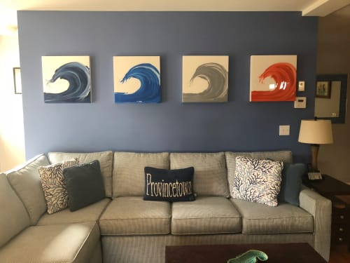 Paintings by Kmoe seen at Private Residence, Provincetown - Surf Series