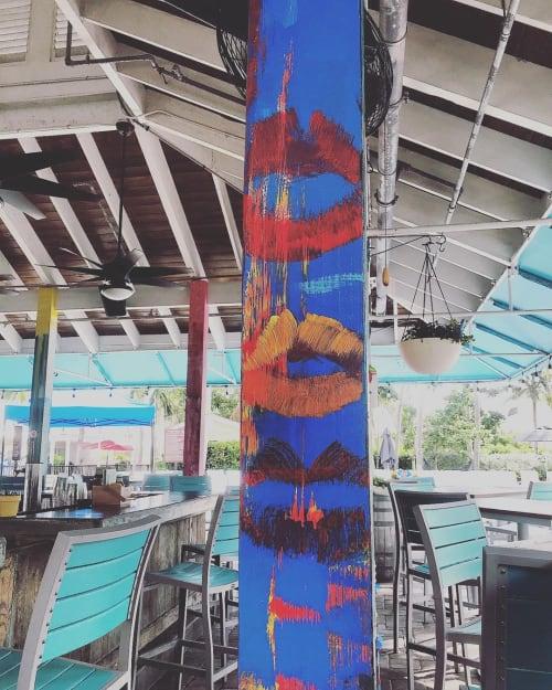 Murals by CoLette RueLette seen at Havana Cabana At Key West, Key West - Custom Column Mural