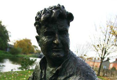 Public Sculptures by John Coll Sculpture seen at Dorset Lane, Dublin 1 - Brendan Behan