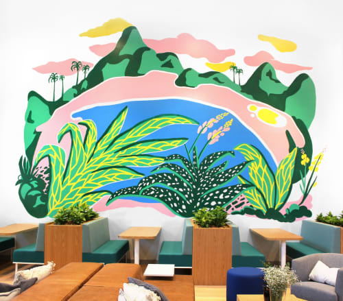 Murals by Efdot seen at Barra da Tijuca, Barra da Tijuca - Barra Da Tijuca Tropical Mural