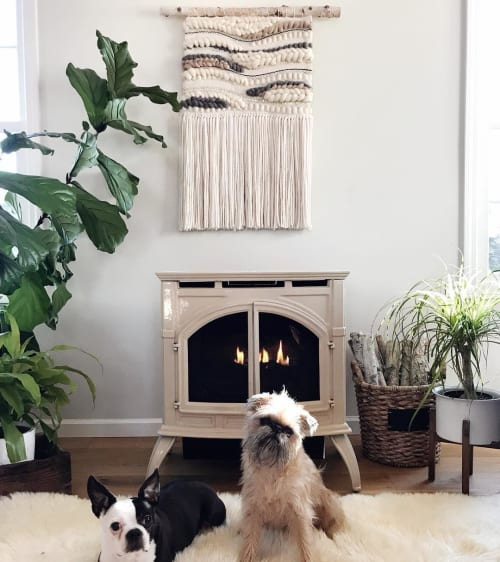 Macrame Wall Hanging by Erin Barrett  (Sunwoven) seen at Private Residence - Woven Wall Hanging