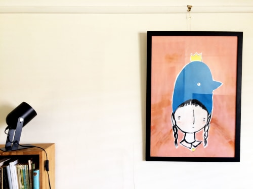 Paintings by Dancing Fox seen at Private Residence, Brunswick East - Penguin Head