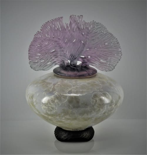 Vases & Vessels by Debra Steidel seen at Steidel Fine Art, Wimberley - Ocean Whispers  Opal Pearl