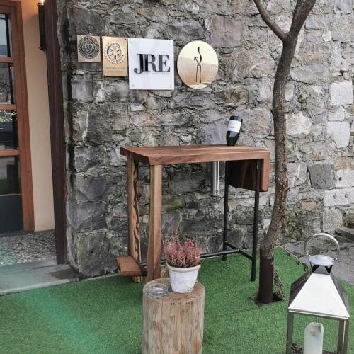 Tables by PRIMUS designs seen at Gostilna pri Lojzetu - Dvorec Zemono, Vipava - Walnut Table