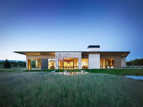 Architecture by CLB seen at Private Residence, Jackson - Lefty Ranch