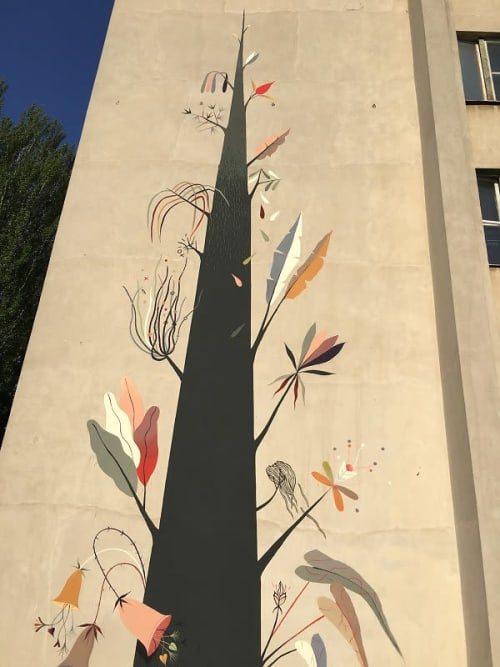 Murals by Antoine Martinet - MioSHe seen at Southern Federal University (main building), Rostov - The tree of knowledge