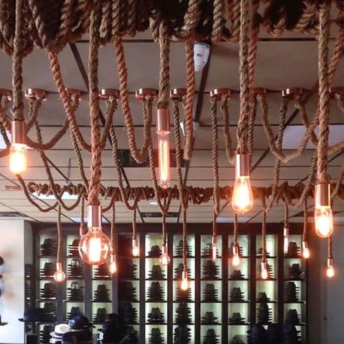 Pendants by Hangout Lighting seen at THAT HAT, Lakewood Township - Rope Pendants