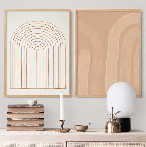 Paintings by forn Studio by Anna Pepe seen at Private Residence, Darlington - Framed Wall Art Set