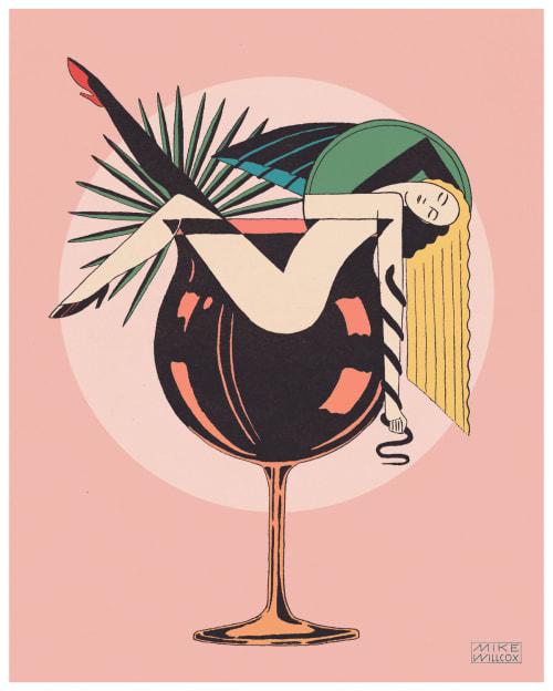"""Art & Wall Decor by Mike Willcox seen at Private Residence, Albany - Cocktails 16""""X20"""" Print"""