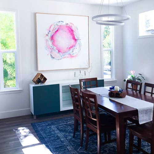 """Paintings by Emily Dilbeck seen at Private Residence, Sacramento - Reconciled - 54"""" x 54"""""""
