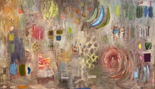 Paintings by Pam (Pamela) Smilow seen at Creator's Studio, New York - Yellow Spruce Series: Warm Tones