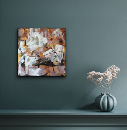 Paintings by Viktoria Ganhao seen at Creator's Studio, Abrantes - Golden touch