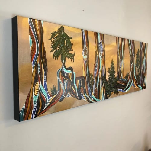 Paintings by April Lacheur seen at Private Residence, Maple Ridge - Forest Secrets