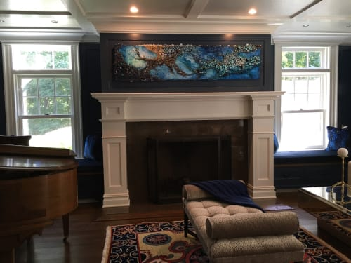 Art & Wall Decor by Amy Genser Studio at Private Residence, Armonk - Blue Fish Vibes