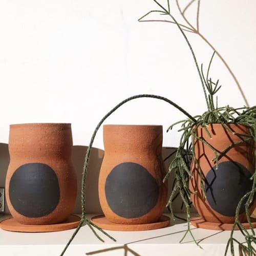 Vases & Vessels by Made by Bowie seen at Private Residence, Newcastle - Red Earth Planter