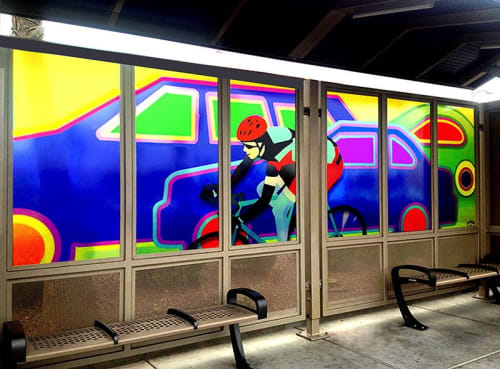 Wall Treatments by Susan Kaprov Studio seen at Las Vegas, Las Vegas - Cycling