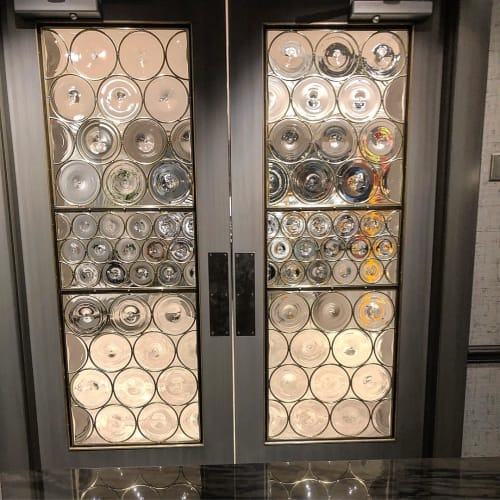 Hardware by Hyland Glass seen at GE Appliance Park, Louisville - Wine Room Doors