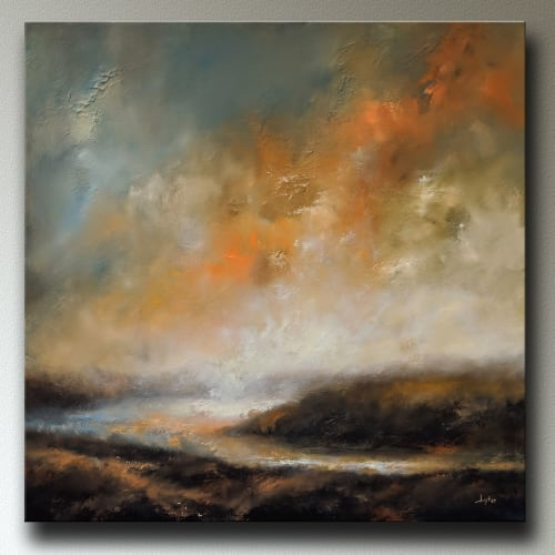 Paintings by Christopher Lyter Fine Art seen at Christopher Lyter Fine Art, Newport - Atmospheric Landscape Original Painting