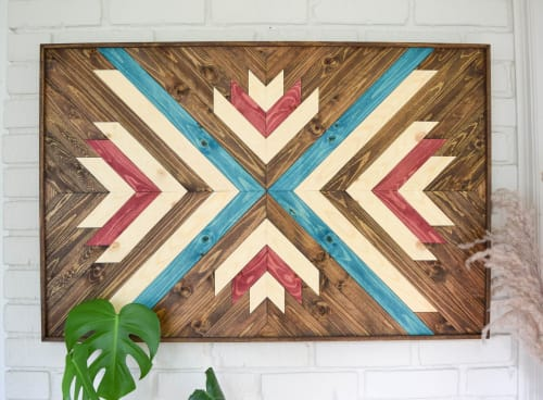Wall Hangings by Roaming Roots seen at Private Residence, Spokane - Aurora Wood Artwork