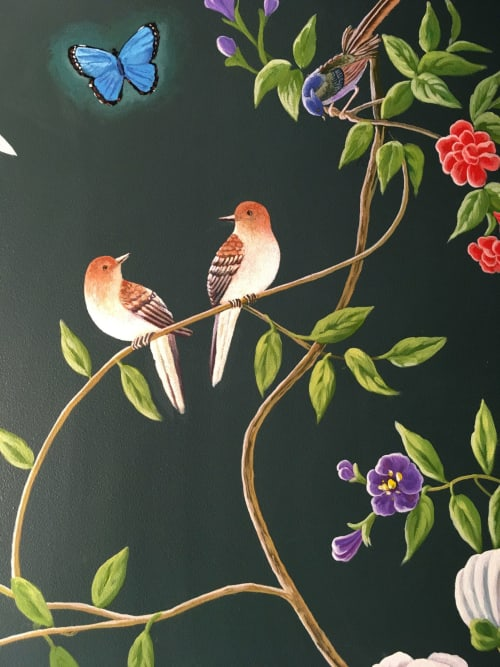 Murals by Murals by Georgeta (Fondos) seen at Private Residence, Coral Gables - Chinoiserie-inspired Mural