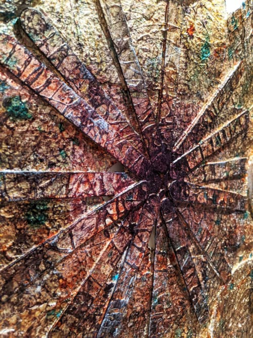Paintings by Garry Grant Studio seen at Private Residence, New York - Fortilace Grid A.V.A.R. 1.0 (Aerial View Ancient Relic) 2020
