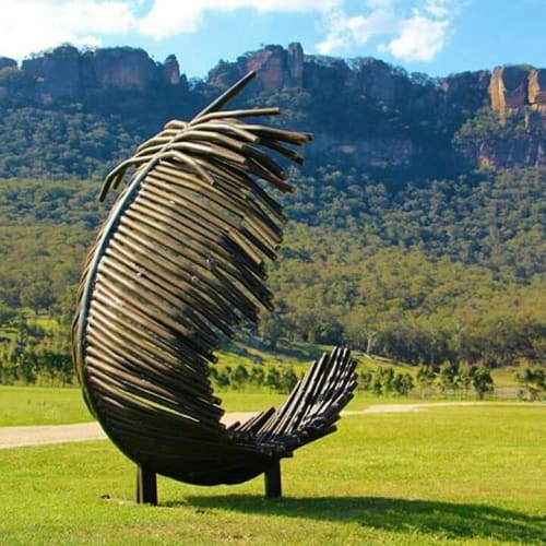 Public Sculptures by Tobias Bennett seen at Emirates One&Only Wolgan Valley, Wolgan Valley - Angel's Feather