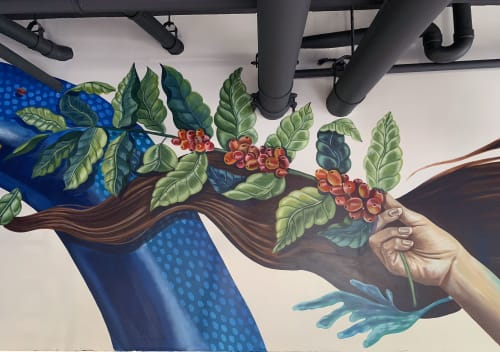 Murals by NSCB Studio seen at Starbucks, Miami - Mural