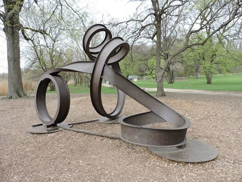 Public Sculptures by Carole Eisner seen at Prospect Park, Brooklyn - Valentine II