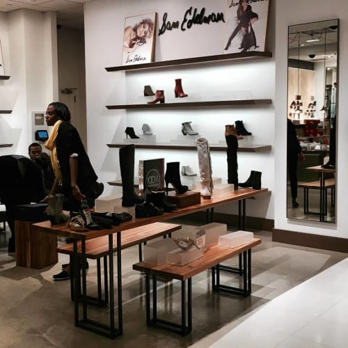 Tables by From the Source seen at Bloomingdale's, New York - Plantation Teak Tables