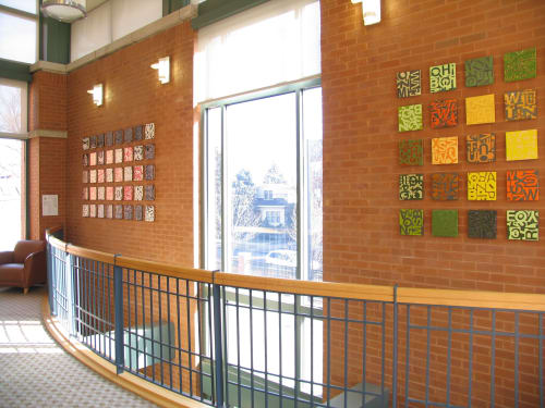 Public Mosaics by Jason Messinger Art seen at Austin-Irving Branch, Chicago Public Library, Chicago - Letterfied