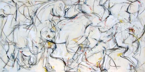 Horse Fair I | Paintings by Heidi Lanino | Orange Bank & Trust Company in White Plains