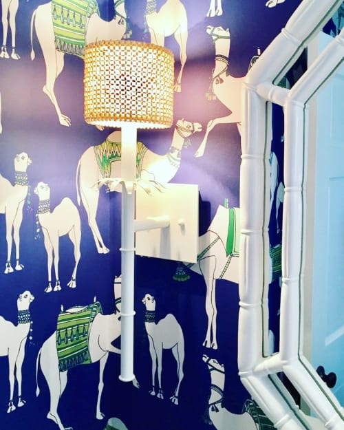Wallpaper by Cotton & Quill at Private Residence, Hingham - Camels in Garden Party