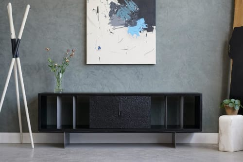 Furniture by Ordinal Indicator seen at Private Residence, The Bronx - Black Ash Carter Credenza