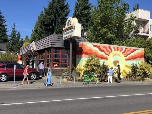 The Grateful Breaderfly | Murals by Nicki Deux | Grateful Bread in Seattle