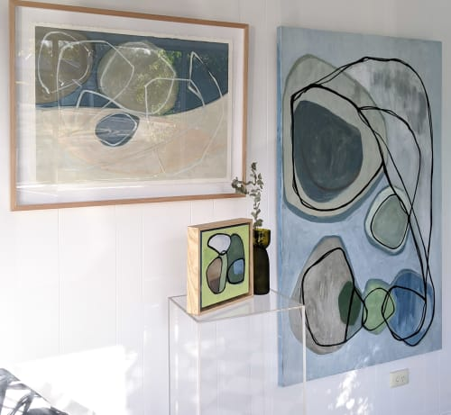 Paintings by Claire Cavanna seen at Creator's Studio, Sydney - Rhythm of the Land a tenuous grasp