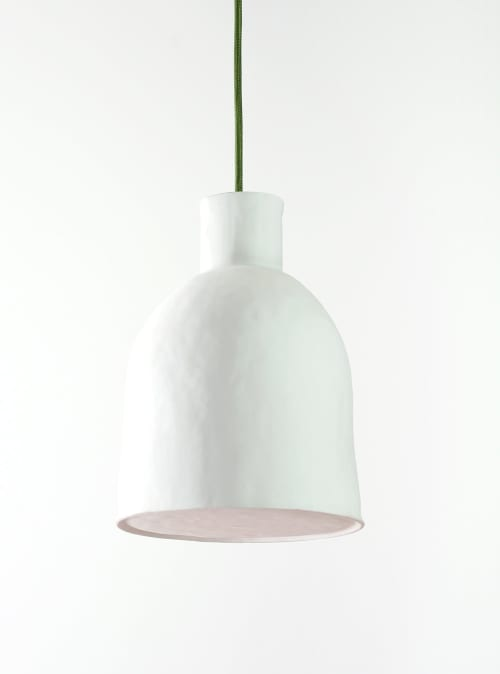 Pendants by Bergontwerp seen at Mint, London - Handshaped Porcelain Pendant with a closed bottom