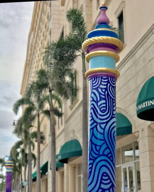 Public Sculptures by Jorge-Miguel Rodriguez seen at THE COLLECTION, Coral Gables - Regal