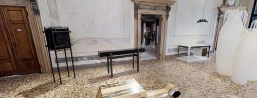 Art Curation by Gerard Kuijpers seen at European Cultural Centre (ECC) - Palazzo Michiel, Campo Santi Apostoli, Venezia - The Black Altar